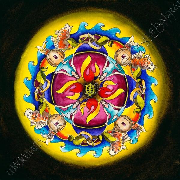 Feng shui mandala chakra mandalas for Cuadros mandalas feng shui decoracion mandalas