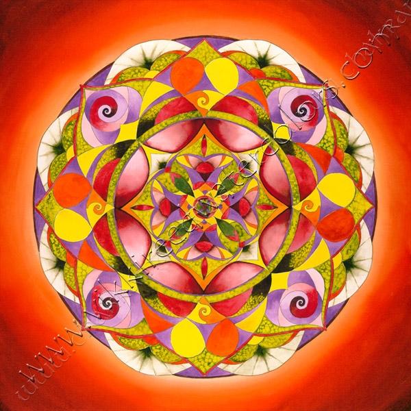open heart mandala open your heart to receive love